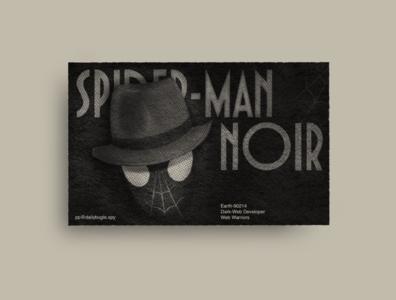 A dark web developer in the '30s graphic design procreate dark web editorial print typeface helvetica spiderman noir noir business card superhero dribbbleweeklywarmup spidey spiderman