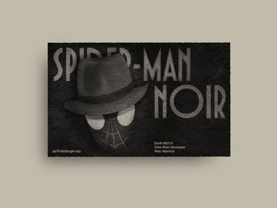 A dark web developer in the '30s graphic design procreate dark web editorial print typeface helvetica spiderman noir noir business card superhero dribbbleweeklywarmup spidey spiderman