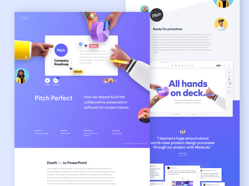 Pitch Case Study pitch website design case study