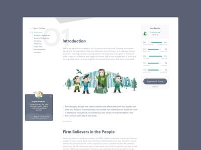 16Personalities.com / Website 16personalities personality test typography identity website ui ux brand