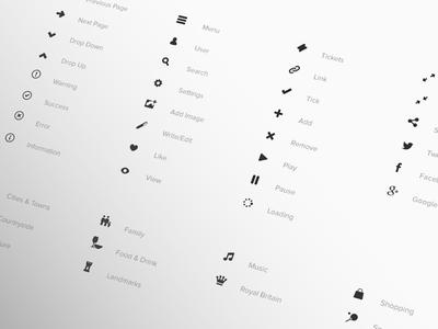 Visit Britain Design Guideline; Icons