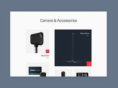 Mevo Website camera branding mobile typography design identity website brand ux ui