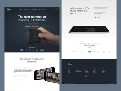 Mevo Website camera branding mobile typography design identity website brand ux ui