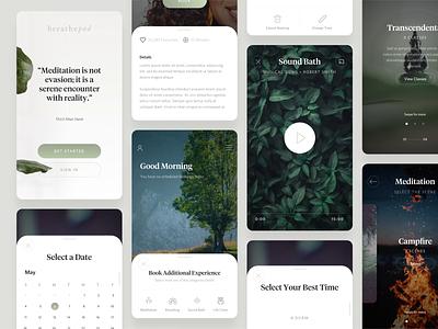 BreathePod - App Designs home meditate meditation breathe breathepod mindfulness website brand