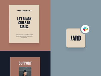 Anti-Racism Daily x Slack slack assets brand identity anti-racism slackbot