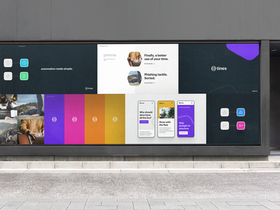 Tines Brand automatio colours styleguide design identity website ui brand