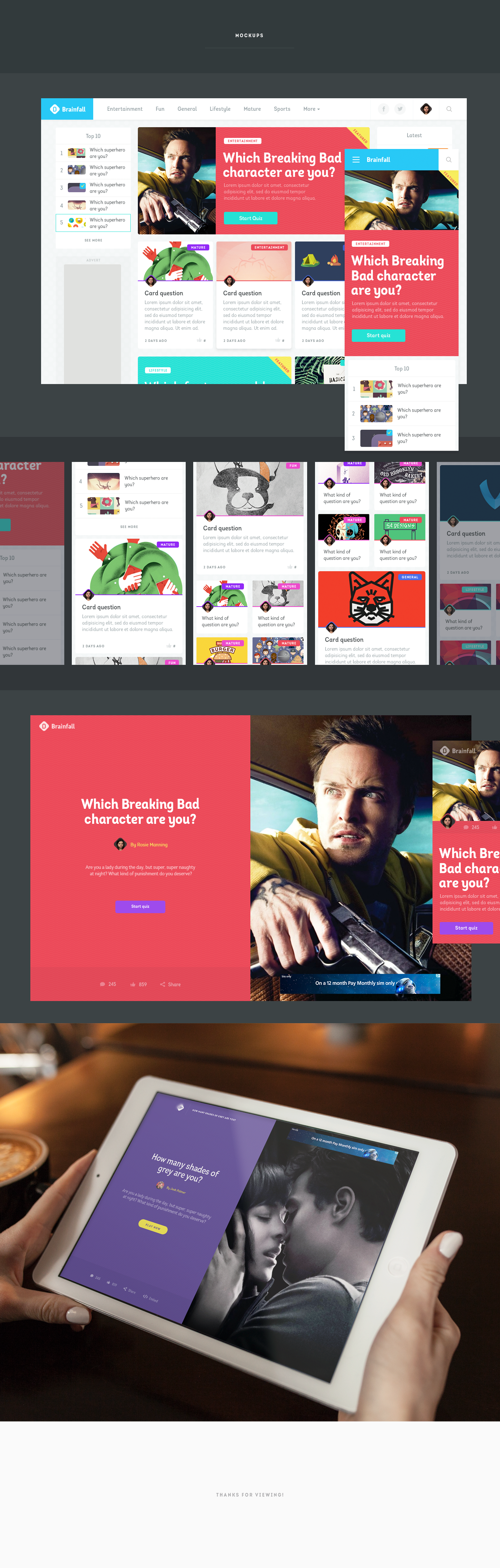 Brainfall Brand & Web by Rosie for Gravita on Dribbble
