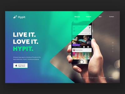 Hypit Brand Guidelines styleguide brand styleguide guideline marketing mobile app hypit gradient brand design ux ui