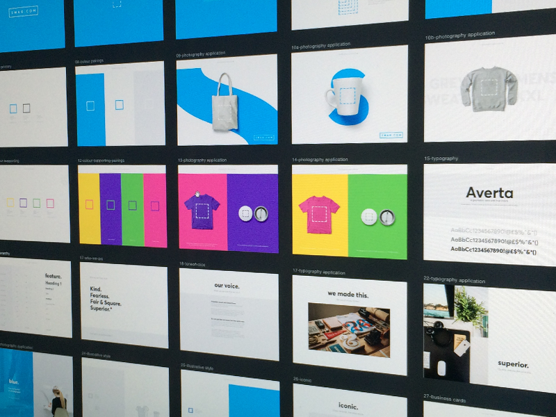 swag.com // Branding color colour brand guide styleguide typography logo colours identity brand