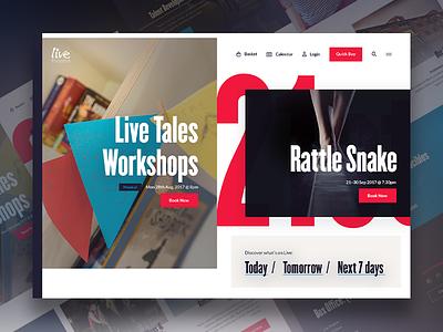 live.org.uk newcastle rebrand theatre landing website redesign