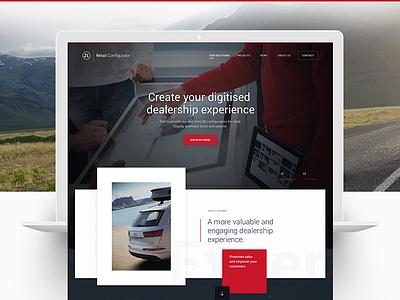 zerolight.com ux ui typography red floaty redesign dealers website cars