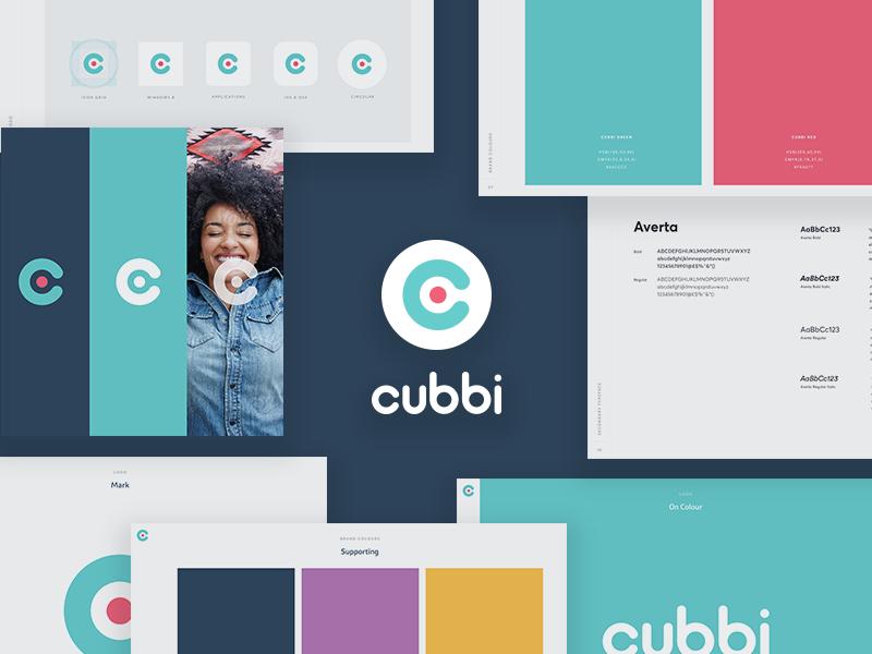 cubbi.com.au airbnb bright color logo c housing brand. cubbi