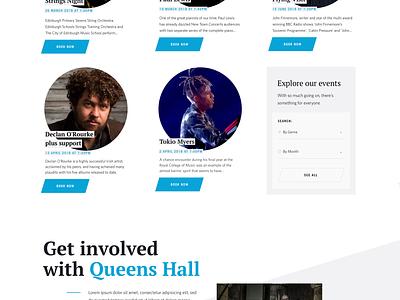 Queens Hall Website works web typography ui music relaunch design website