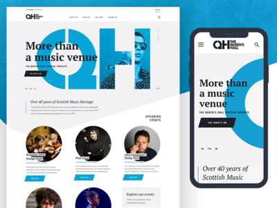 Queens Hall Website works web typography ui music relaunch design website