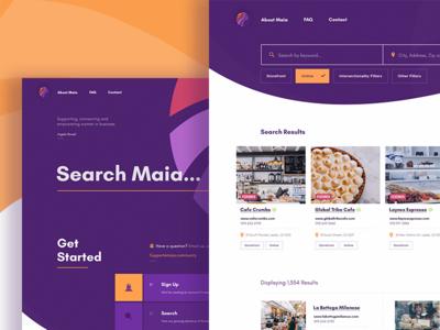 Maia Website Design