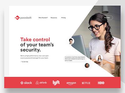 Passbolt Concept branding typography identity design website ux brand ui
