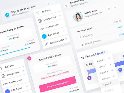 Swag Updates app styleguide branding icons typography identity design website ux ui