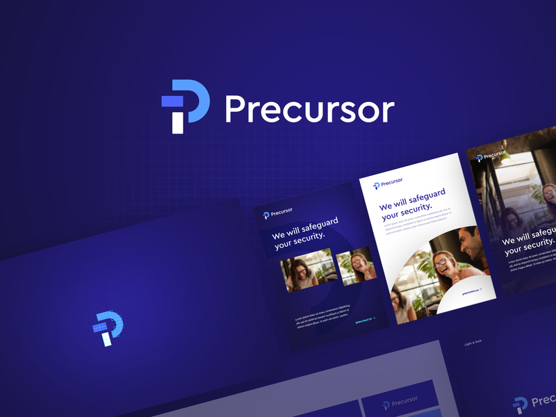 Precursor Branding colours security typography logo ux design identity branding brand website ui