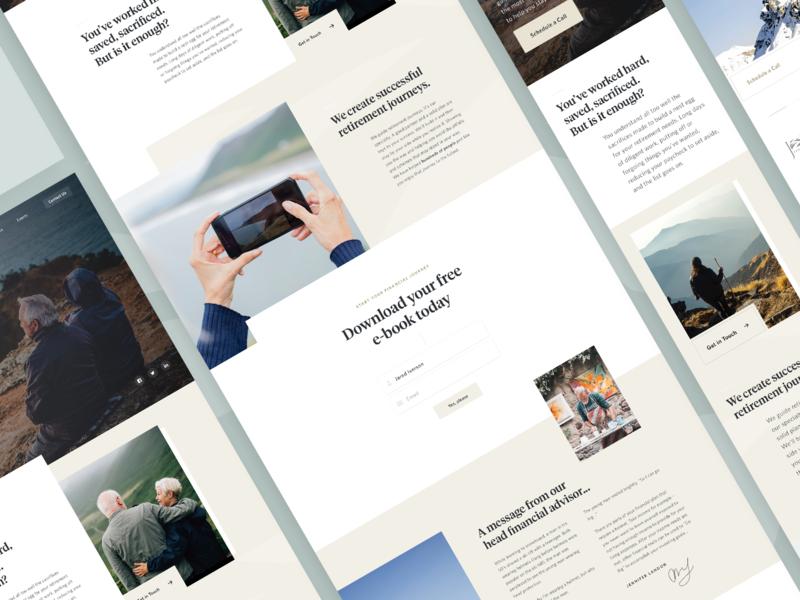 Journey Website Design brand guide typography icons identity design website brand ux ui