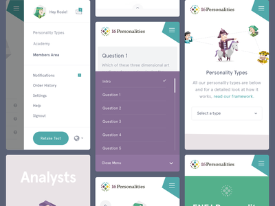 16personalities.com - Mobile mobile test illustration polygons 16personalities.com brand personalitytest uiux ui