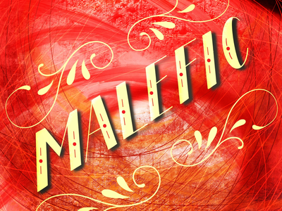 Malefic illustration design type typography hand lettering lettering