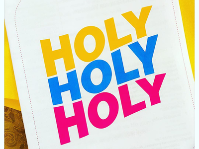 Holy, holy, holy color typography type layout typographic design type design typography