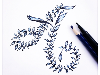 A color handmade letter design hand lettering typography illustration lettering