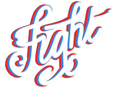 Fight hand lettering typography type lettering