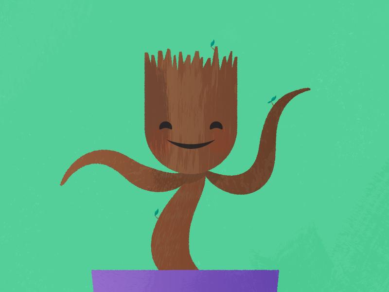 Dancing Groot dancing groot marvel illustration texture design happy comics movie