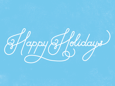 Happy Holidays typography hand lettering christmas holiday type illustration holidays xmas