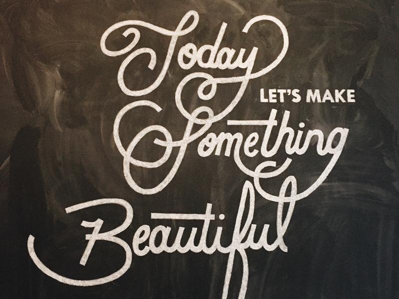 Chalk it up! chalkboard lettering typography