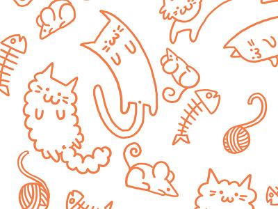 So Many Kitties neko atsume fun pattern cat kitties cats illustration