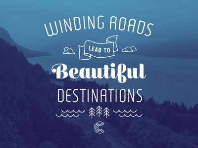 Beautiful Destinations illustration mural chalk typography lettering