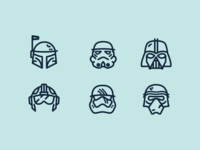Helmets of Star Wars