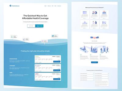 Quick Healthcare minimal web vector ui website illustration design branding