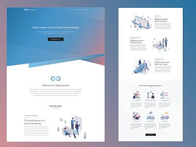 Optimize.Ad flat ux website web vector ui minimal illustration design branding