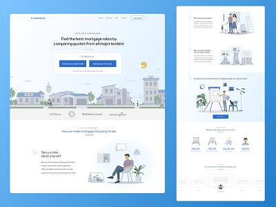 Loan Analyzer ux flat website web ui vector minimal illustration design branding