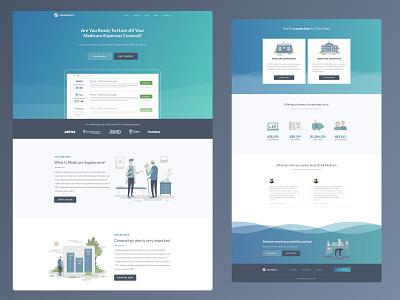 Quick Medicare ux flat website ui web vector minimal illustration design branding