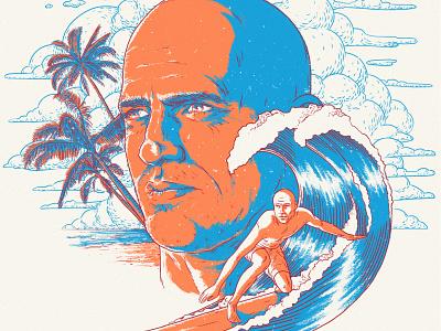 Kelly Slater contrasting surfer ocean lineart cover poster surfing contrast hand drawing art illustration artist konstantin kostenko design