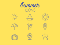 Summer Icons - 9 icons challenge