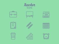 Teacher Icons - 9 icons challenge