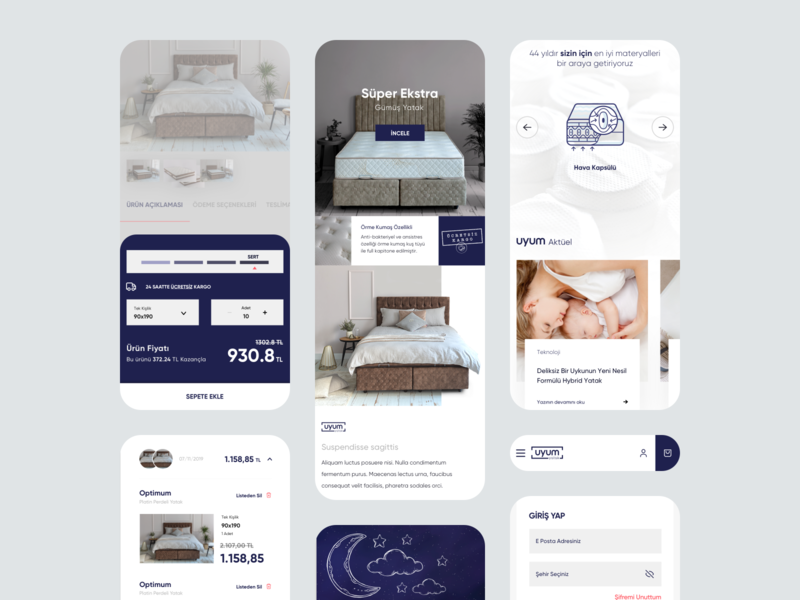 Uyum Yatak Website