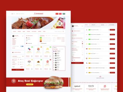 Yemeksepeti Redesign - Food Order Website