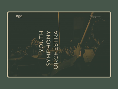 Agora Youth Symphony Orchestra flat art animation site web orchestra symphony music sketch creative concept ui dribbble design