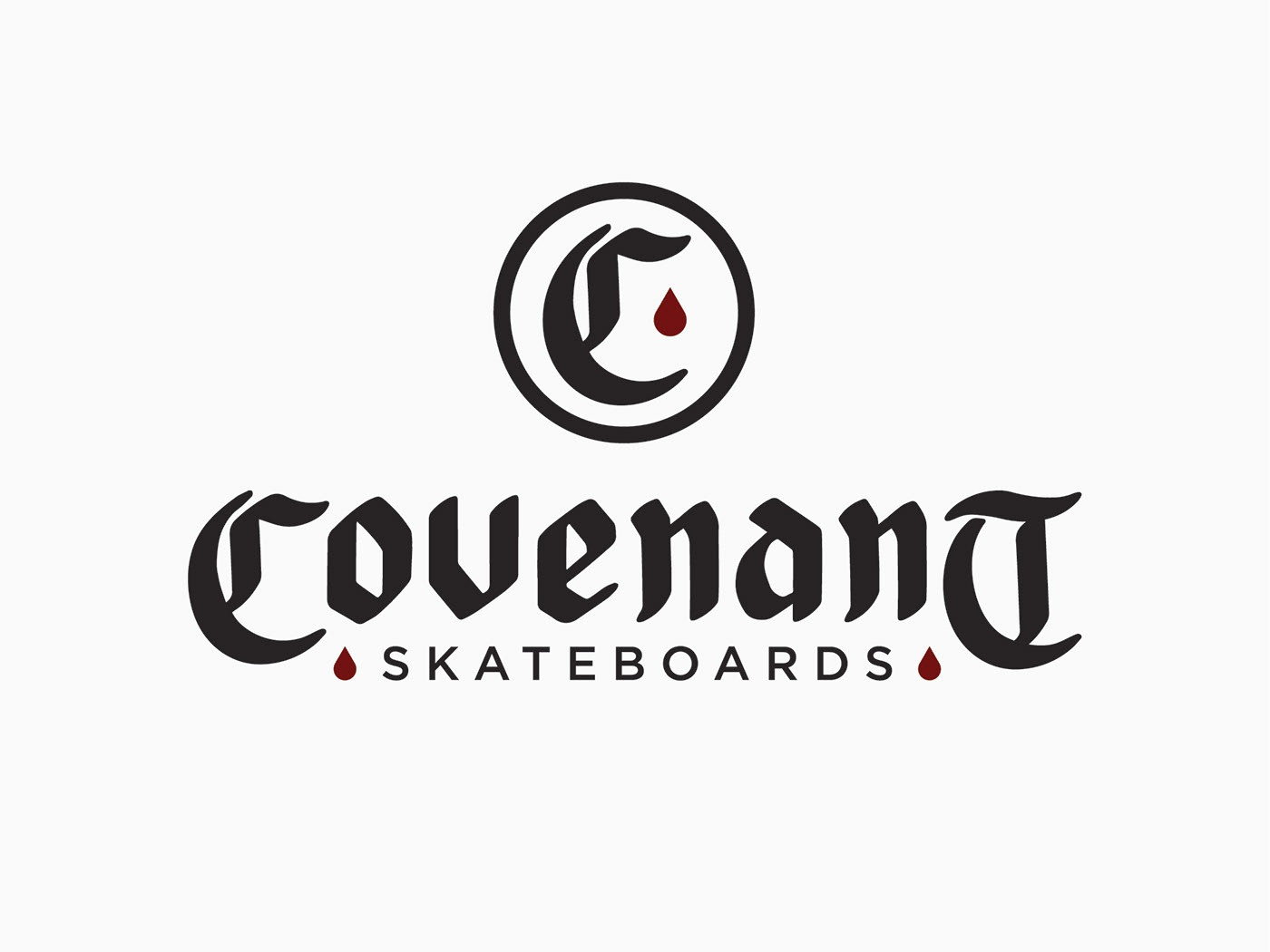 Covenant Skateboards identity type typography vector minimal logo illustration icon design branding