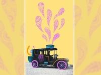 Illustration pattern doodle pattern photo illustration doodle on photo old photo car illustration car vintage digital painting doodleart doodle digital illustration digital art flat illustration illustration