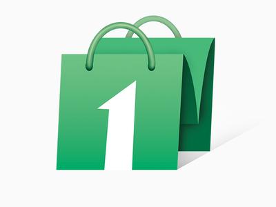 Avval Market Logo m letter green graphic design market app logo illustration graphic design