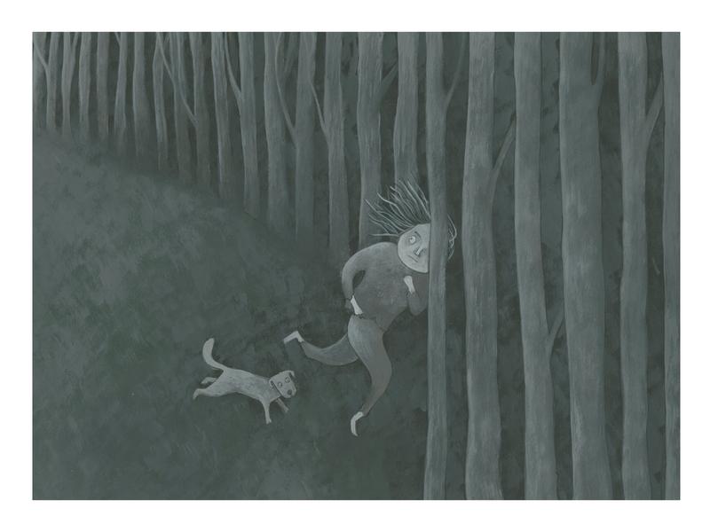 Book illustration dark mode painting book illustration design illustration