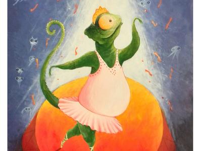 Dancing Lizard storytelling stage animal illustration dancing lizard illustration art illustration