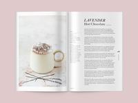 Lavender Hot Chocolate Layout & Illustration